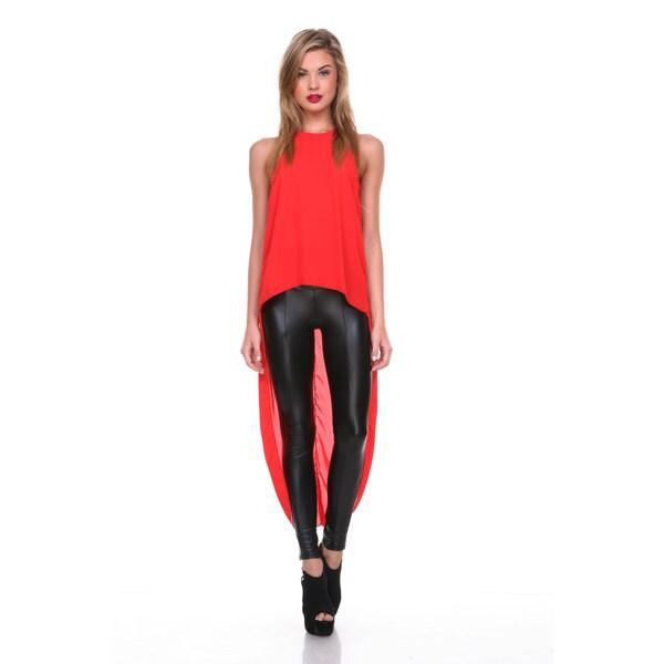 Stanzino Women's Asymmetric Hem Halter Tunic