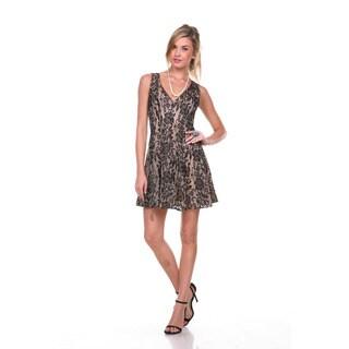 Stanzino Women's Sleeveless Lace Cocktail Dress