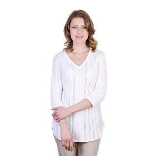Cooper Women's 100-percent Cotton White Pullover
