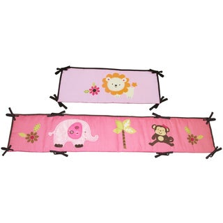 NoJo Little Bedding Raspberry Jungle Traditional Padded Bumper