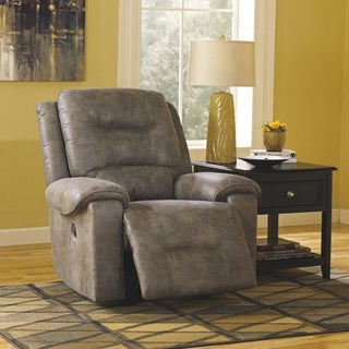 Signature Design by Ashley Rotation Smoke Rocker Recliner