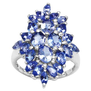 Malaika Sterling Silver Tanzanite Cocktail Ring