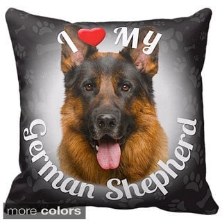 I Love My German Shepherd Throw Pillow
