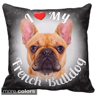 I Love My French Bulldog Fawn Throw Pillow