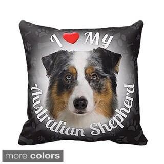I Love My Australian Shepherd Throw Pillow