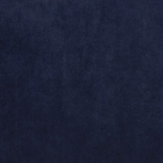 K0300X Navy Solid Plush Stain Resistant Microfiber Velvet Upholstery Fabric by the Yard