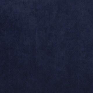 K0300X Navy Solid Plush Stain Resistant Microfiber Velvet Upholstery Fabric