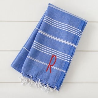 Personalized Dark Blue Turkish Towel