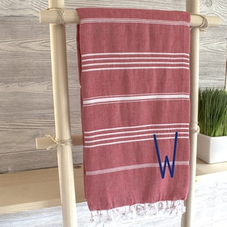 Personalized Red Turkish Towel