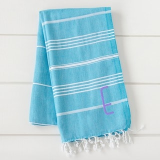 Personalized Turquoise Turkish Towel