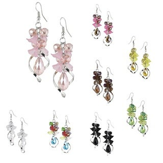Bleek2Sheek Vine-ology Edition Honeybell Twirl Drop Crystal Cluster Earrings