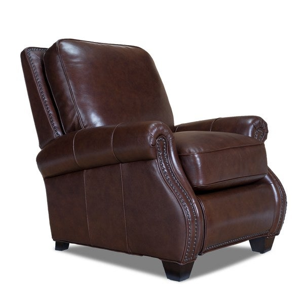 Opulence Home Nappa Leather Recliner in Pascal Walnut