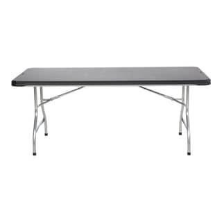 Lifetime Black 6-foot Commercial Stacking Folding Table