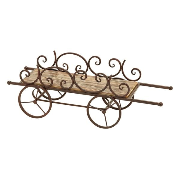 Wood/ Metal Country Cart Themed Planter