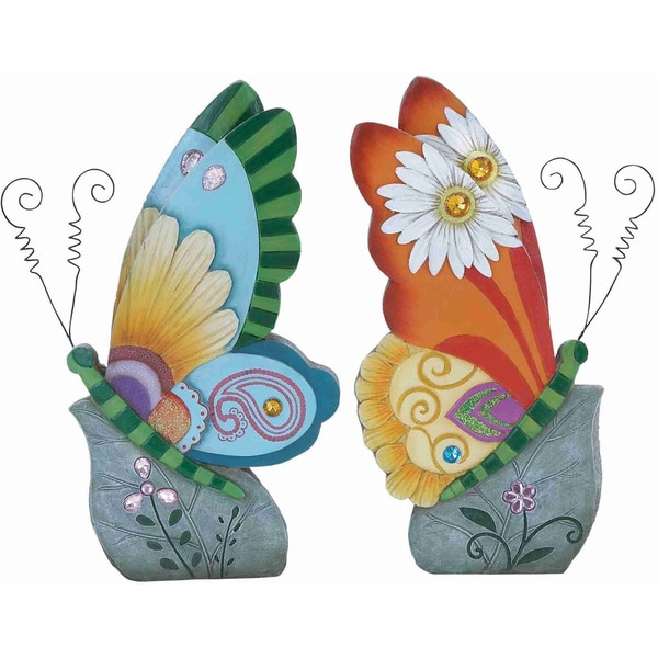 Polystone Beautiful Butterfly Decor