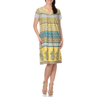 La Cera Women's Printed Cotton Dress
