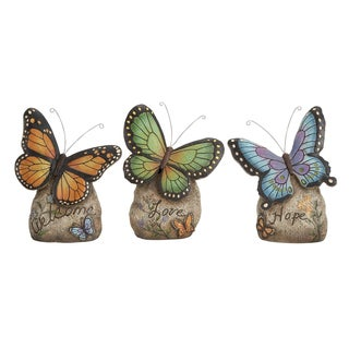Polystone Colorful Polystone Butterfly