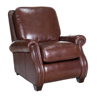 Nappa Leather Recliner in Pascal Brown