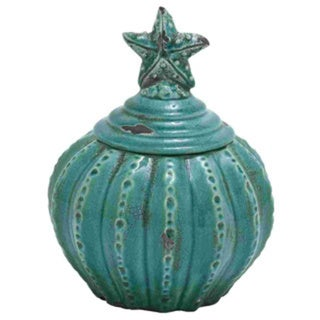 Ceramic Ceramic Jar With Star Shaped Design