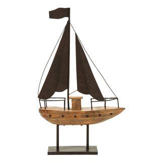 Brown Metal Nautical Theme Sailboat Decor