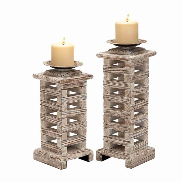 Wood Classy Candle Holders