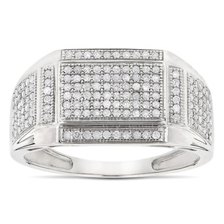 White Gold 10k Men's 5/8ct TDW Diamond Ring (H-I, SI1-SI2)