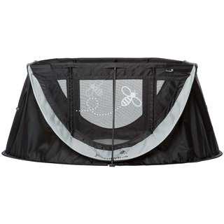 Parentlab JourneyBee Portable Crib, Black/Silver