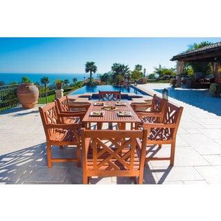 Vifah Malibu Eco-Friendly 7-Piece Wood Outdoor Dining Set
