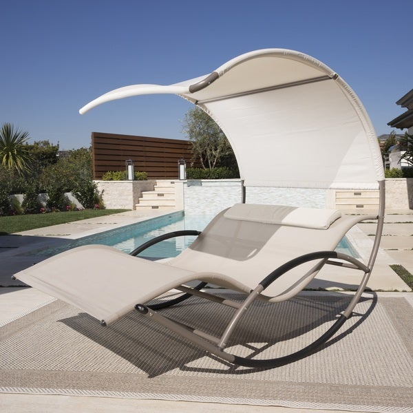 Double Rocking Chaise Lounge by RST Brands