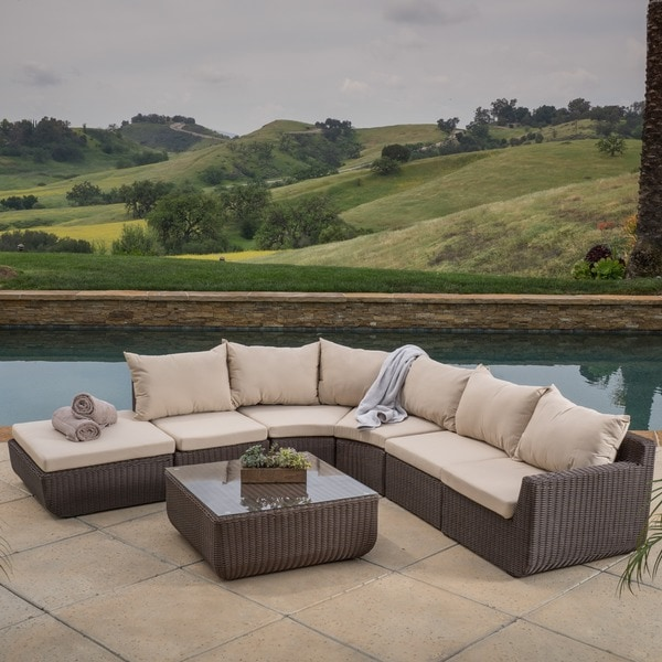 pc outdoor sofa sectional w sunbrella cushions patio furniture garden