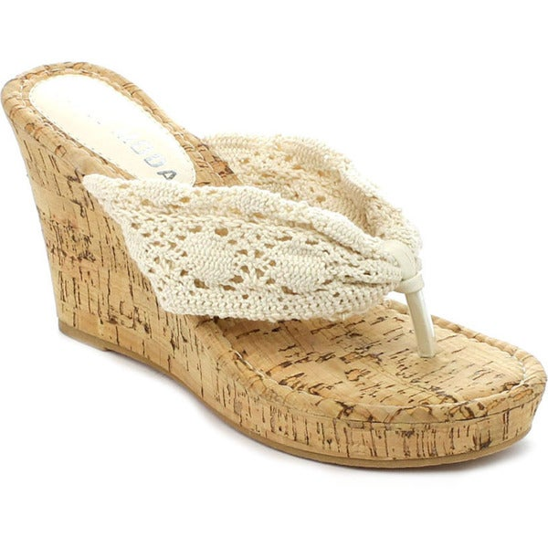 Spirit Moda ALICE-2 Women's Sweet Crochet Wedges