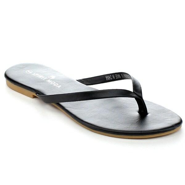 Spirit Moda OLIVIA-1 Women's Smoothy Flip Flop Sandal