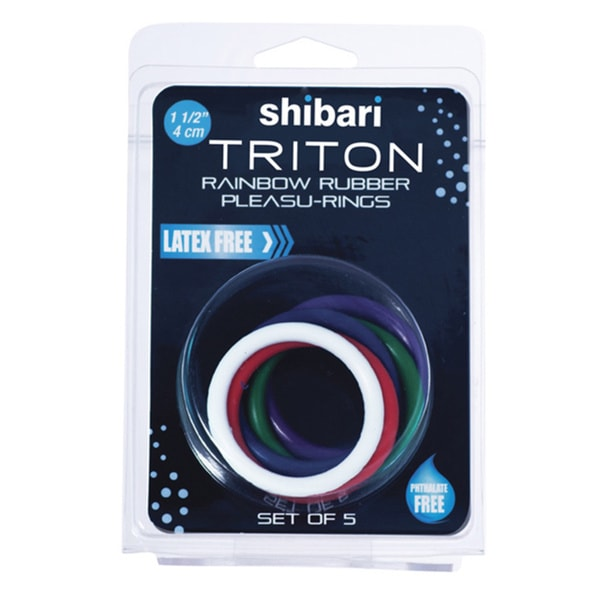 Shibari Triton Rainbow Rubber Pleasu-Rings