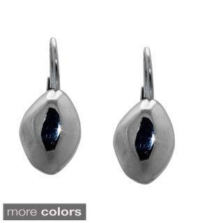 Gioelli Sterling Silver Edgy High Polish Dangle Earrings