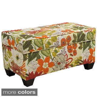 Linen Upholstered Storage Bench