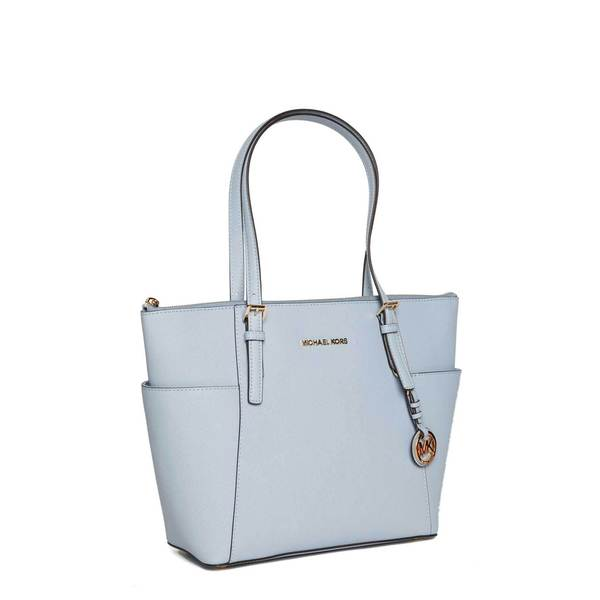 MICHAEL Michael Kors Jet Set Pale Blue Zip East/West Tote