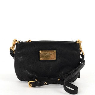 MARC by Marc Jacobs 'Classic Q - Percy' Black Leather Crossbody Bag