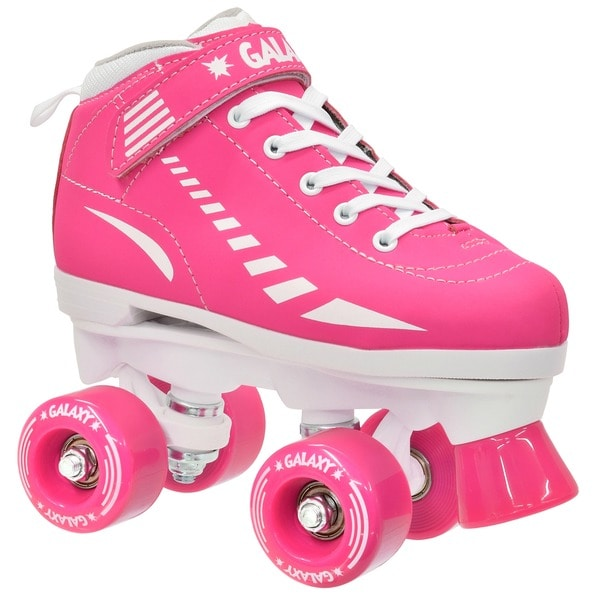Epic Pink Galaxy Elite Quad Roller Skates