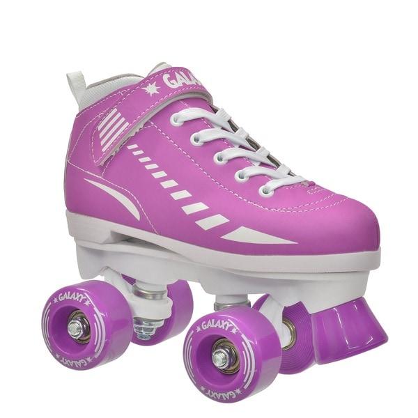 Epic Purple Galaxy Elite Quad Roller Skates