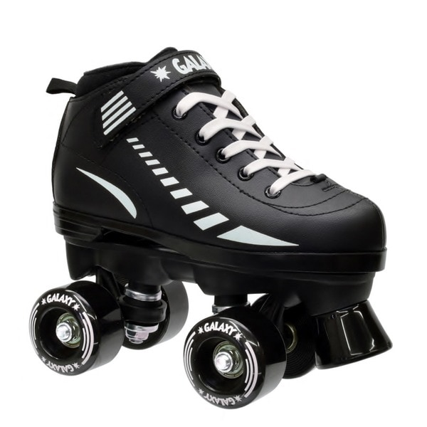 Epic Black Galaxy Elite Quad Roller Skates