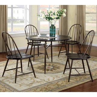 Shelbey Windsor 5-piece Brown Country Style Dining Set