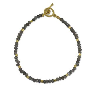 Gold Overlay 'Simply Delightful' Labradorite Bracelet (Thailand)