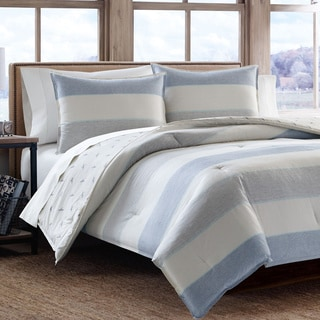 Eddie Bauer Camas Stripe Cotton 3-piece Comforter Set