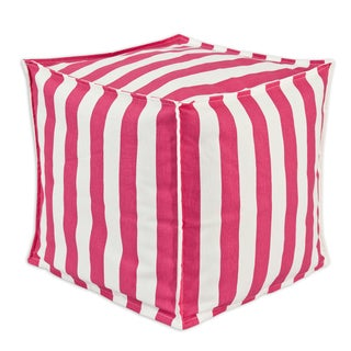 Somette Canopy Candy Pink Square Seamed Squish Ottoman