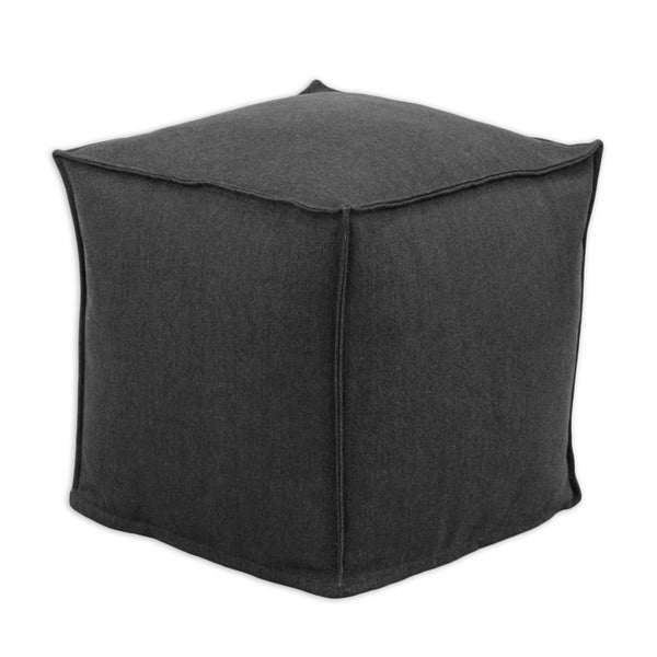 Somette Denim Black Square Bean Bag Ottoman