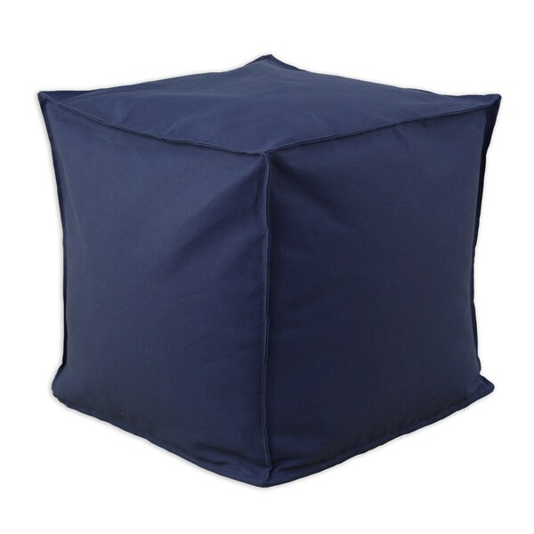 Somette Duck Navy Square Ottoman