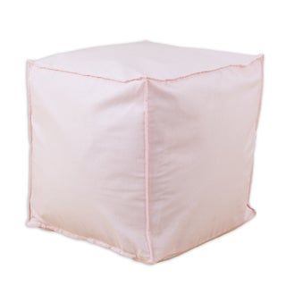 Somette Duck Pink Square Ottoman