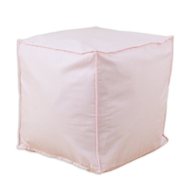 Somette Duck Pink Square Ottoman