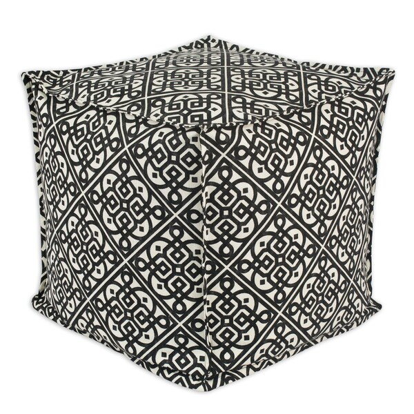 Somette Lace it Up Ebony Square Ottoman