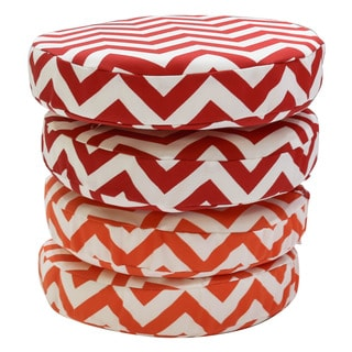 Somette Chevron 14-inch Round Bistro Cushions (Set of 2)